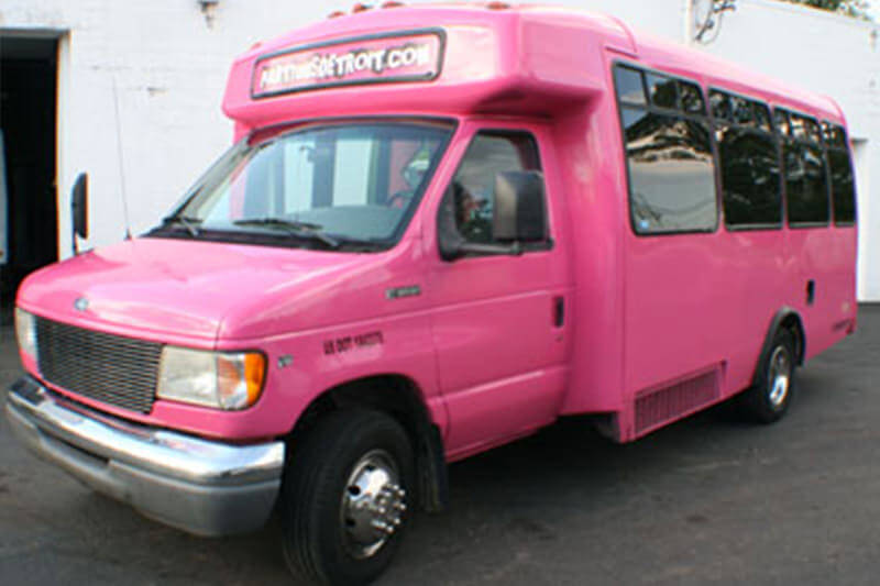 20 Passenger Pink Party Bus
